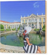 Sintra Travel Woman Wood Print