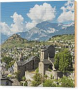 Sion Old Town In Switzerland Wood Print