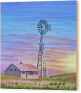 Sioux County Sunrise Wood Print