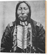 Sioux: Crow King Wood Print
