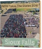 Sioux Falls Rise/shine 2 W/text Wood Print