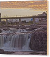 Sioux Falls Sunset Wood Print