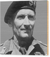 Sir Bernard Law Montgomery  Wood Print