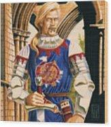 Sir Dinadan Wood Print