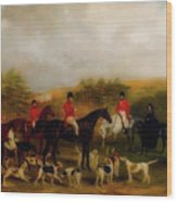 Sir Edmund Antrobus And The Old Surrey Fox Hounds At The Foot Of Wood Print
