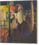 Sir Galahad At The Ruined Chapel Wood Print
