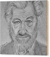 Sir Ian Machellen Wood Print
