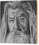 Sir Ian Mckellen As Gandalf The Grey Wood Print