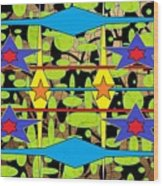 Sir Mbonu Christhe Arts Of Textile Designs #30 Wood Print