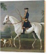 Sir Roger Burgoyne Riding 'badger' Wood Print