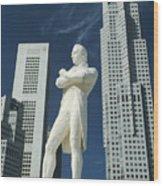 Sir Stamford Raffles Wood Print