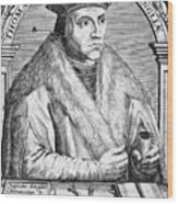 Sir Thomas More (1478-1535) Wood Print by Granger