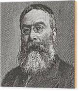 Sir Walter Besant, 1836 -1901. English Wood Print