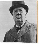 Sir Winston Churchill Wood Print