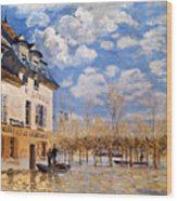 Sisley: Flood, 1876 Wood Print