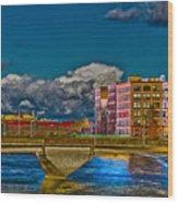 Sister Cities Pedestrian Bridge Wood Print