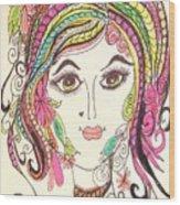 Sisterhood Of The Doodling Pens 5 Wood Print