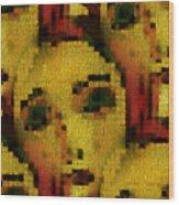 Sisters In Mosaik Wood Print