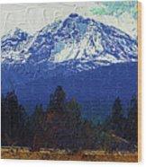 Sisters Oregon Ranch Wood Print