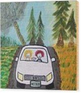 Sisters Road Trip Wood Print