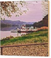 Sisters Ville Ferry Wood Print