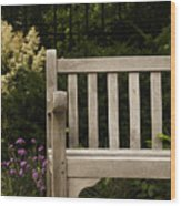 Sit For A Bit Wood Print