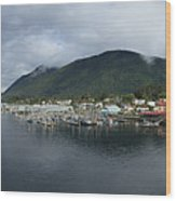 Sitka Alaska From The John O'connell Bridge Is A Cable-stayed Bridge 2015 Wood Print