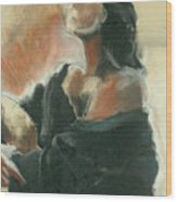 Sitted Woman Wood Print