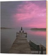 Sittin On The Dock Of The Bay Wood Print