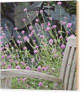 Sitting Amongst A Wildflower Garden Wood Print
