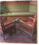Sitting Area At Frank Lloyd Wright Home And Studio Wood Print