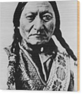 Sitting Bull 1831-1890 Lakota Sioux Wood Print by Everett