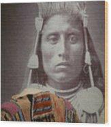 Native American Indian Wood Print
