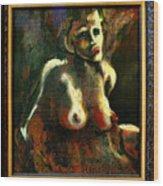 Sitting Nude Wood Print