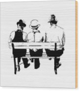 Sitting On A Park Bench Wood Print