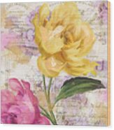 Sitting Pretty Peonies Wood Print