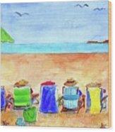 Six Beach Amigos Wood Print
