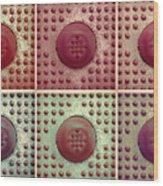 Six Panel Dot And Cube Landscape Wood Print