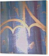 Six Eight Singing In The Rain Wood Print by Alanna Hug-McAnnally