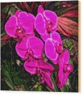 Six Flowers Wood Print