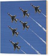Six In Flight Wood Print