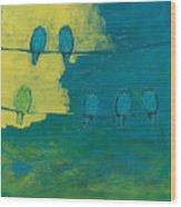 Six In Waiting Break Of Day Wood Print by Jennifer Lommers