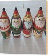 Six Russian Santas Wood Print