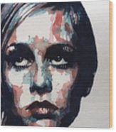 Sixties Sixties Sixties Twiggy Wood Print by Paul Lovering
