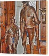 Size Matters. 7 Foot Tall. Wood Print