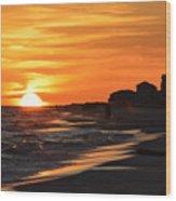 Sizzling Sunset Wood Print