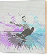Sk8 Jd Wood Print