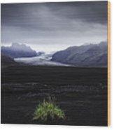 Skaftafellsjokull Glacier Wood Print