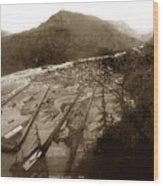 Skaguway, Alaska View From Hill Over Looking 1898 Wood Print