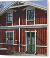 Skansen Building Wood Print